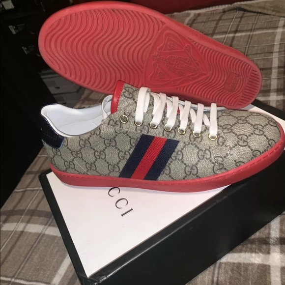 bc4a5b260 Jordan Shoes | Gucci Ace Gg Print Sneakers | Poshmark